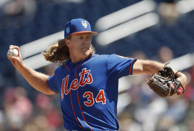 The Mets hope a healthy Noah Syndergaard will lead them to the postseason. (AP Photo)