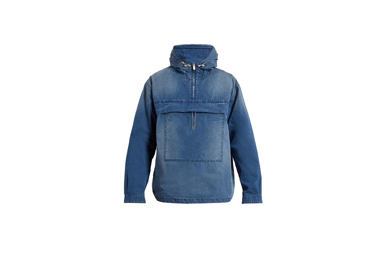 "<p>$918, buy now at <a rel=""nofollow"" href=""http://www.matchesfashion.com/us/products/Maison-Margiela-Hooded-cotton-blend-jacket-1083806?mbid=synd_yahoostyle"">matchesfashion.com</a></p>"