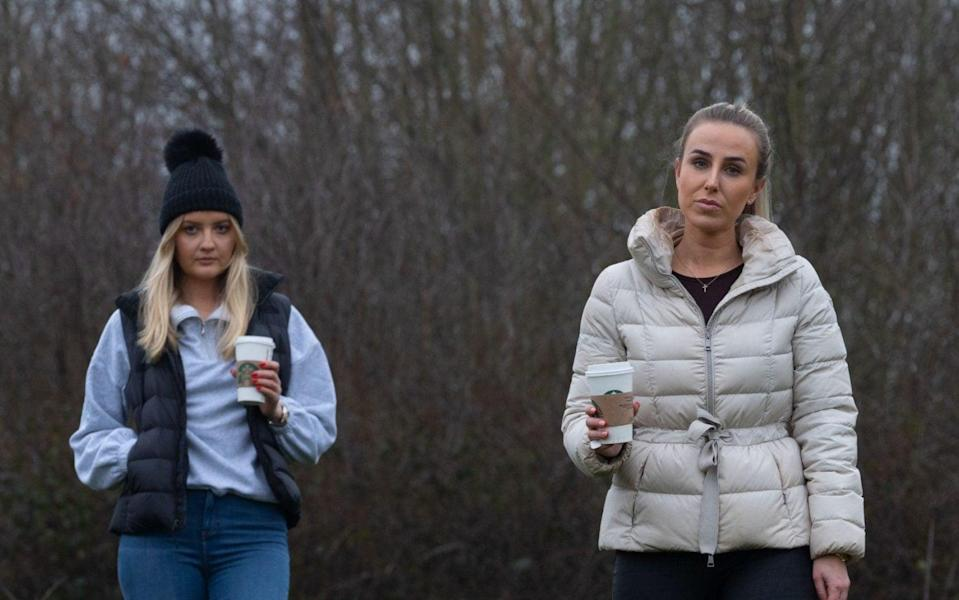 Jessica Allen and Eliza Moore were fined £200 each for travelling to Foremark Reservoir for a walk - Tom Maddick / SWNS