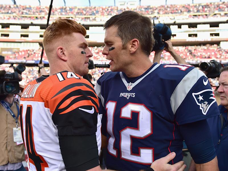 Could Andy Dalton be Tom Brady's replacement in New England? (Photo by Billie Weiss/Getty Images)