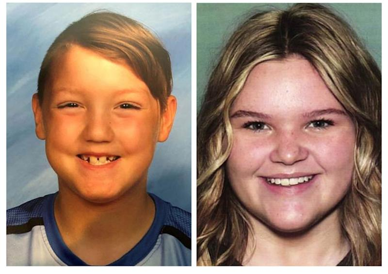 "Missing children Joshua ""JJ"" Vallow, 7, left, and Tylee Ryan, 17. Source: Associated Press"