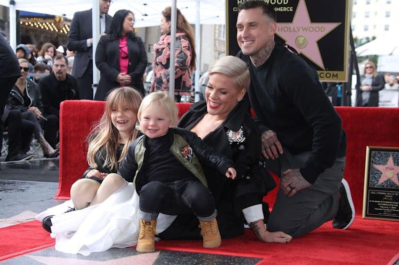 Willow, Jameson, Pink and Carey Hart