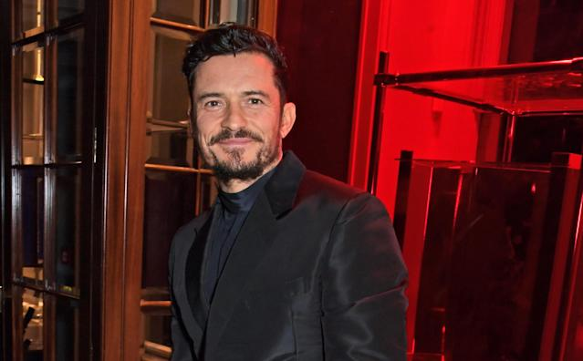 Orlando Bloom attends the Flaunt Magazine and Dunhill party celebrating 'The Voyage Issue' in 2019 in London (David M. Benett/Dave Benett/Getty Images)