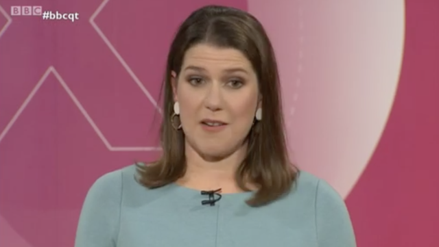 Jo Swinson was accused of thinking Leave voters are stupid. (BBC)