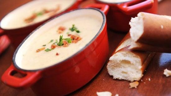 "<p>There have been many dupes of this recipe, but none have come close to the cheddar cheese soup served at Epcot. Make this for a cozy night in, then use any leftovers as a fondue to dip pretzels in the next day!</p> <p><strong>Get the recipe:</strong> <a href=""http://disneyparks.disney.go.com/blog/2020/05/disneymagicmoments-recipe-for-popular-canadian-cheddar-cheese-soup-from-le-cellier-steakhouse-at-epcot-first-time-release-on-disney-parks-blog/"" class=""link rapid-noclick-resp"" rel=""nofollow noopener"" target=""_blank"" data-ylk=""slk:Disney's Canadian cheddar cheese soup"">Disney's Canadian cheddar cheese soup</a></p>"