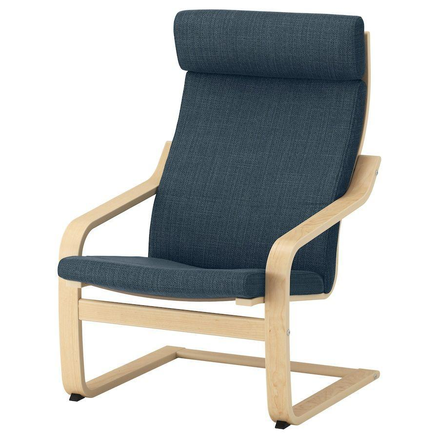 """<p><strong>IKEA</strong></p><p>ikea.com</p><p><strong>129.00</strong></p><p><a href=""""https://go.redirectingat.com?id=74968X1596630&url=https%3A%2F%2Fwww.ikea.com%2Fus%2Fen%2Fp%2Fpoaeng-armchair-birch-veneer-hillared-dark-blue-s99305926%2F&sref=https%3A%2F%2Fwww.redbookmag.com%2Fbeauty%2Fg37132432%2Fchair-types-styles-designs%2F"""" rel=""""nofollow noopener"""" target=""""_blank"""" data-ylk=""""slk:Shop Now"""" class=""""link rapid-noclick-resp"""">Shop Now</a></p><p>One of the most iconic—and long-lasting—furniture pieces from Swedish mega-manufacturer IKEA, the Poäng has been a success since it launched in 1976. Japanese designer Noboru Nakamura created the cantilevered seat while working for IKEA, which sells millions of the chair each year. </p>"""
