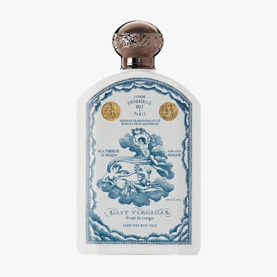 "Not only will this body lotion by Buly 1803 nourish your skin, but the beautifully illustrated bottle will also look fantastic atop any counter. $56, NET-A-PORTER. <a href=""https://www.net-a-porter.com/en-us/shop/product/buly-1803/lait-virginal-mexican-tuberose-body-milk-220ml/1122460"" rel=""nofollow noopener"" target=""_blank"" data-ylk=""slk:Get it now!"" class=""link rapid-noclick-resp"">Get it now!</a>"