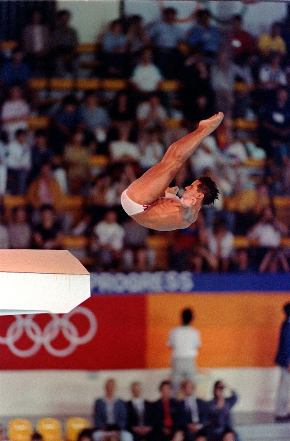 Greg Louganis, diving. Olympics: 1976, 1984, 1988. Medals: 5 (4 gold, 1 silver). Louganis, who was both a springboard and platform diver, is the only man from any country to win four gold medals in diving.