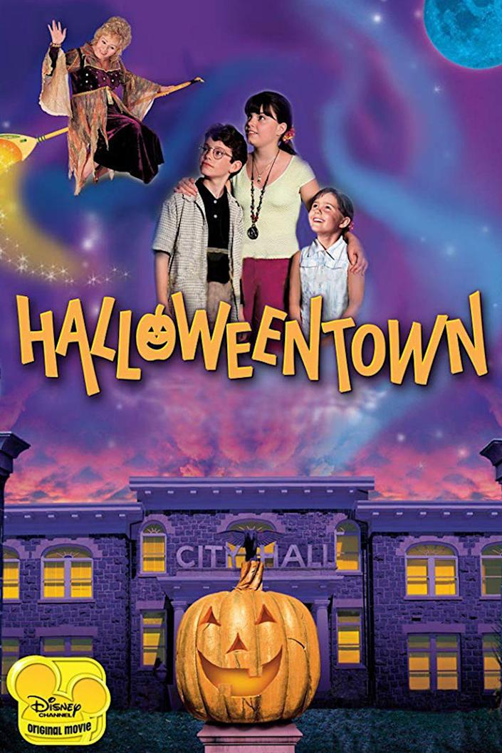 """<p><a class=""""link rapid-noclick-resp"""" href=""""https://go.redirectingat.com?id=74968X1596630&url=https%3A%2F%2Fwww.disneyplus.com%2Fmovies%2Fhalloweentown%2Fkn5updFQLqbG&sref=https%3A%2F%2Fwww.womansday.com%2Flife%2Fg3104%2Fkids-halloween-movies%2F"""" rel=""""nofollow noopener"""" target=""""_blank"""" data-ylk=""""slk:STREAM ON DISNEY+"""">STREAM ON DISNEY+</a></p><p>After discovering she's a witch, 13-year-old Marnie Piper follows her grandmother (Debbie Reynolds) to Halloweentown where she ends up on a quest to save the supernatural town from despair with her younger siblings.</p>"""
