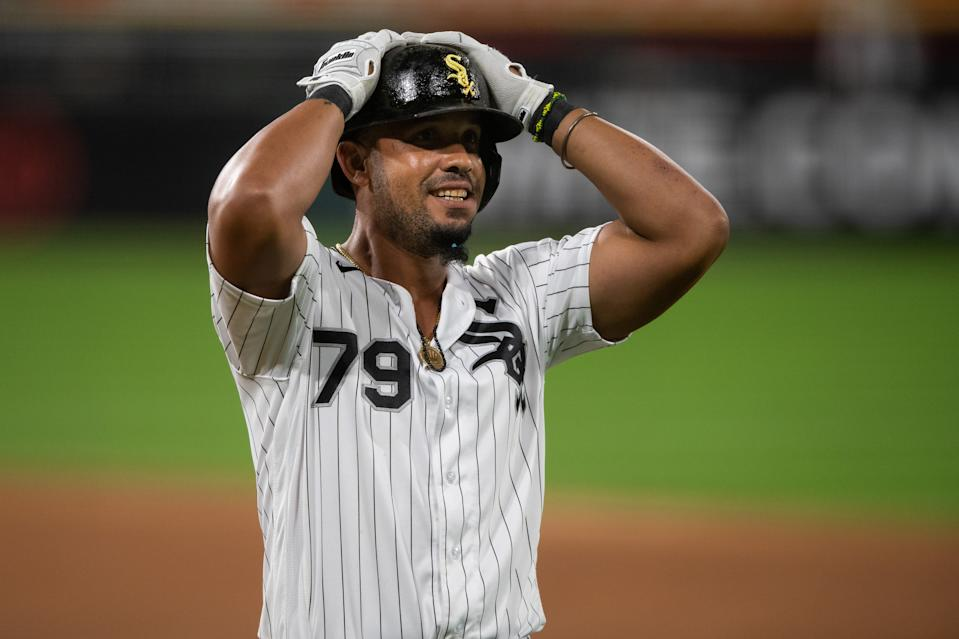 MVP? In the pandemic-altered 2020 season, White Sox first baseman Jose Abreu has cases for both his production and his leadership (Photo by Zach Bolinger/Icon Sportswire via Getty Images)