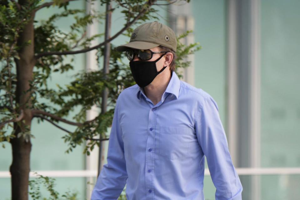 Jeffrey George Brown walking into the State Courts on 2 June
