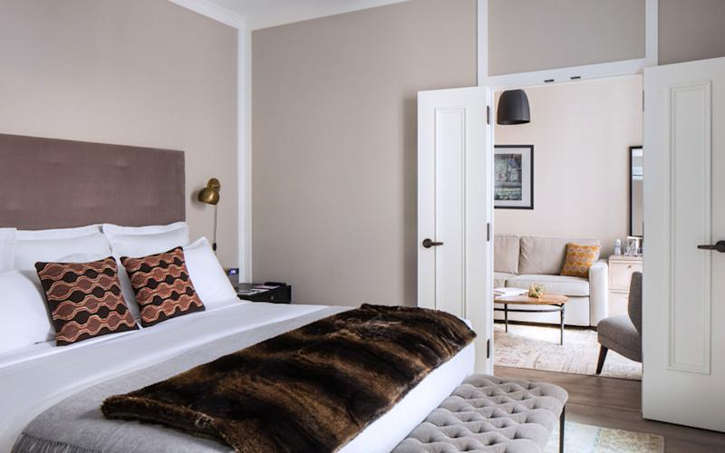 A view shows a HGU New York suite.