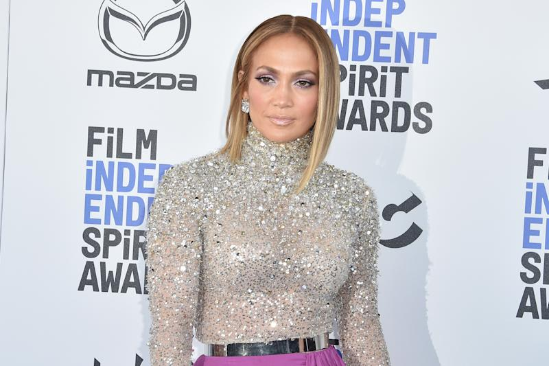 SANTA MONICA, CALIFORNIA - FEBRUARY 08: Jennifer Lopez attends the 2020 Film Independent Spirit Awards on February 08, 2020 in Santa Monica, California. (Photo by David Crotty/Patrick McMullan via Getty Images)
