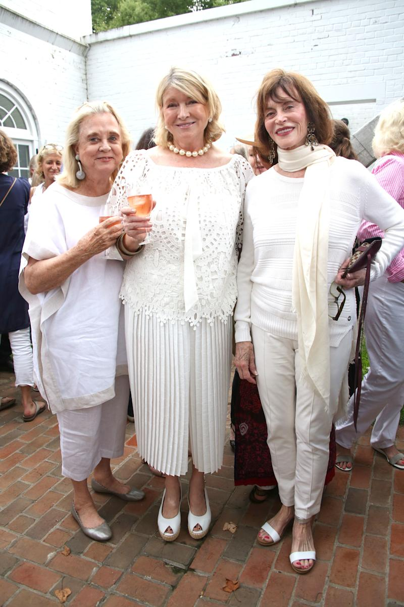 Martha Stewart attends the East Hampton Summer Screening of The Wife at Guild Hall with Kim Crawford Wines.