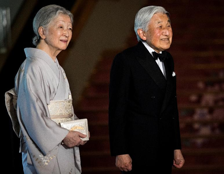 Japan's emperor Akihito and his wife Empress Michiko are seen as being the more accessible face of a monarchy that largely remains in the shadows, unlike the British royals (AFP Photo/Behrouz MEHRI)