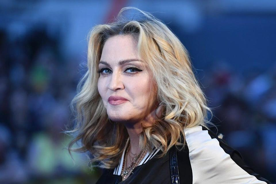 """File image: Madonna at a special screening of """"The Beatles Eight Days A Week: The Touring Years"""" in London in 2016 (AFP via Getty Images)"""