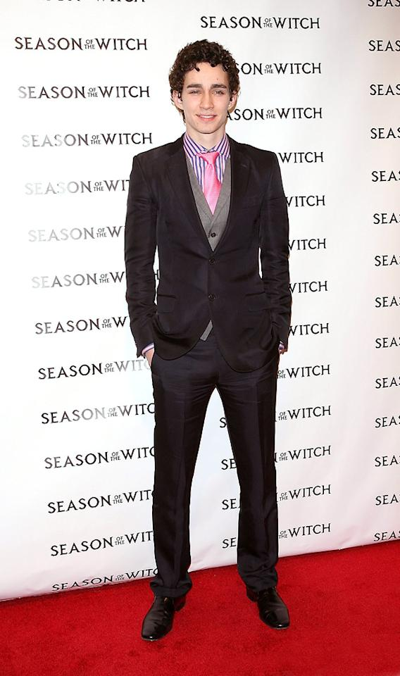 "<a href=""http://movies.yahoo.com/movie/contributor/1809626347"">Robert Sheehan</a> at the New York City premiere of <a href=""http://movies.yahoo.com/movie/1810055815/info"">Season of the Witch</a> on January 4, 2010."