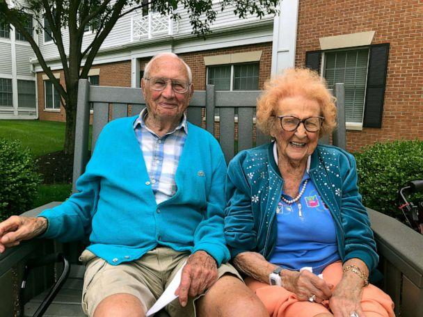 PHOTO: John Cook Sr., 100 and Phyllis Cook, 103, met and fell in love at Kingston Residence of Sylvania in Ohio. (Emily Roach/Kingston Residence of Sylvania)