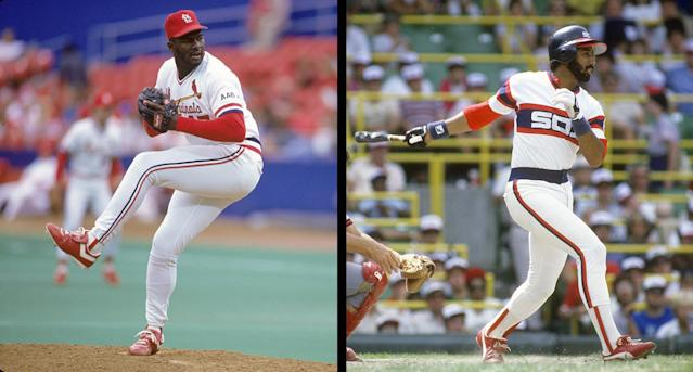 """<a class=""""link rapid-noclick-resp"""" href=""""/nfl/players/24946/"""" data-ylk=""""slk:Lee Smith"""">Lee Smith</a>, Harold Baines were elected to the National Baseball Hall of Fame on Sunday. (Getty Images)"""