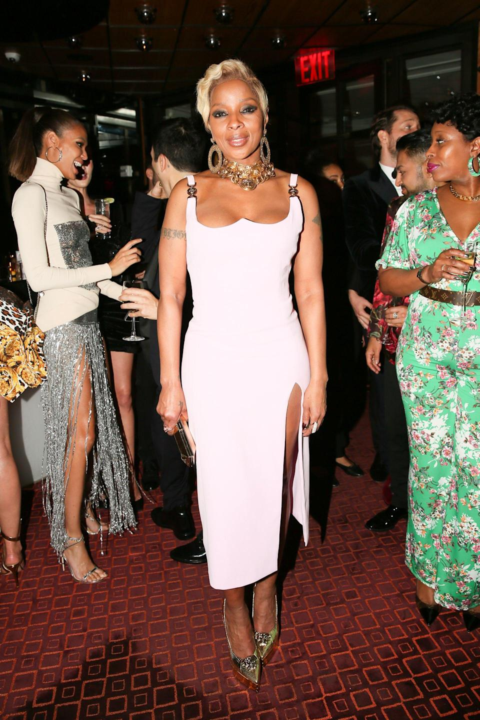<p>Mary J Blige<br> Versace Afterparty, Met Gala, New York, USA – 07 May 2018<br> (Photo: Shutterstock) </p>