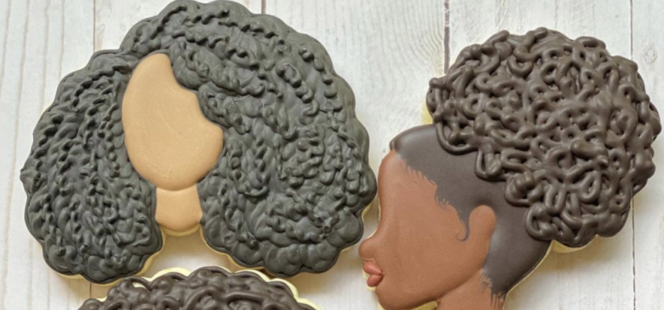 Nadia Williams created a brand new piping technique to mimic Black women's natural hair textures. (Photo: Nadia Williams)