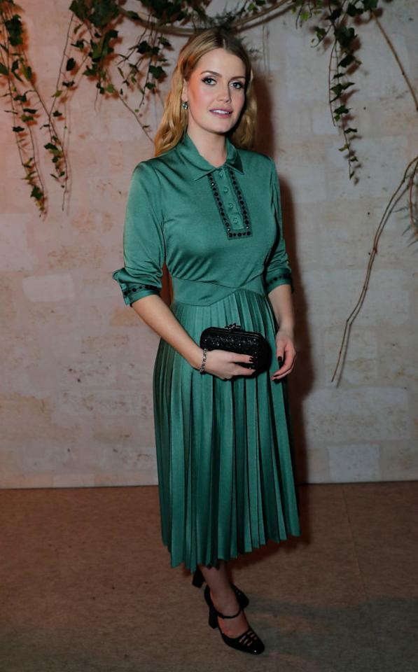 <p>Lady Kitty donned a teal dress with co-ordinating accessories at Chiswick House and Gardens. <em>[Photo: Getty]</em> </p>