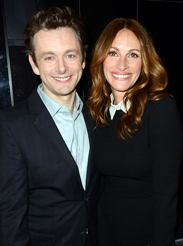 """Michael Sheen and Julia Roberts attend the Los Angeles premiere of """"Jesus Henry Christ"""" on April 18, 2012."""