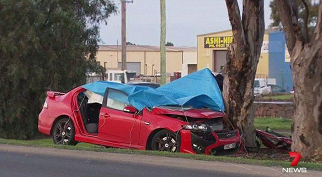 The Laverton North crash scene. Source: 7News