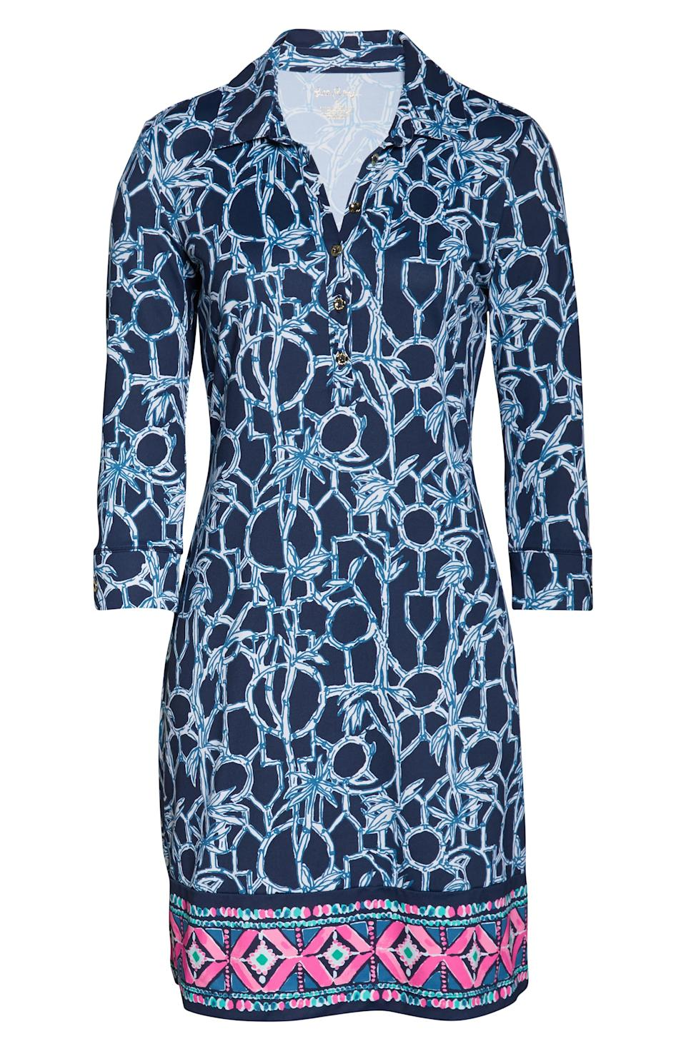 """<p><strong>LILLY PULITZER</strong></p><p>nordstrom.com</p><p><strong>$148.00</strong></p><p><a href=""""https://go.redirectingat.com?id=74968X1596630&url=https%3A%2F%2Fshop.nordstrom.com%2Fs%2Flilly-pulitzer-ansley-upf-50-polo-dress%2F5331650&sref=http%3A%2F%2Fwww.townandcountrymag.com%2Fstyle%2Ffashion-trends%2Fg26522706%2Fbest-dresses-for-older-women%2F"""" rel=""""nofollow noopener"""" target=""""_blank"""" data-ylk=""""slk:Shop Now"""" class=""""link rapid-noclick-resp"""">Shop Now</a></p><p>You can never go wrong with a dramatic pop of print like this Lilly Pulitzer shift dress. </p>"""