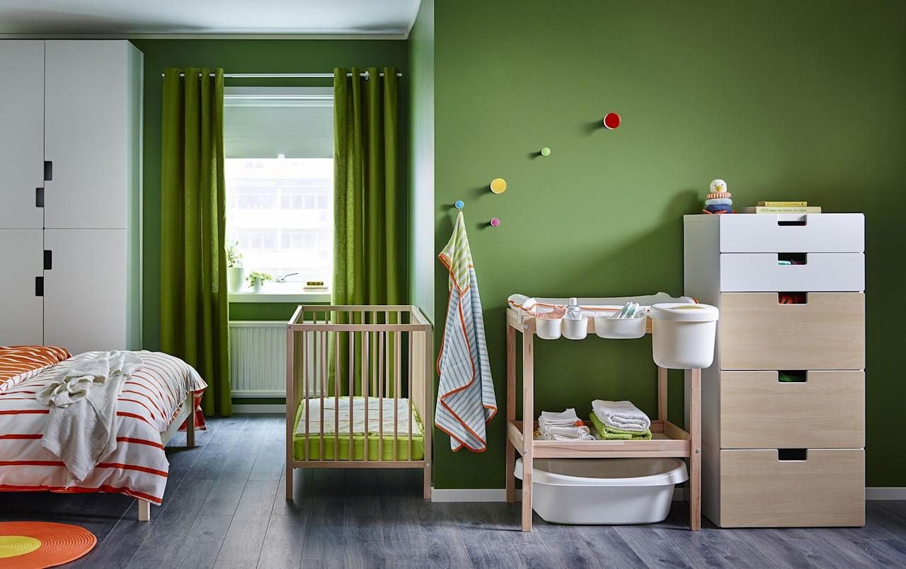"<p><strong>Buying the right <a href=""https://www.housebeautiful.com/uk/decorate/a27367515/meghan-markle-royal-baby-nursery-frogmore-cottage/"">nursery</a> furniture is vital in creating practicality, comfort and a relaxing space for your baby. From various sizes of cots, to changing tables, wardrobes and shelving units, there are many important furniture items to consider. </strong> <br><br>In order to add ease as you plan your nursery, we have rounded up our favourite nursery furniture items to ensure your baby is comfortable, safe and in a place that feels like home. </p>"