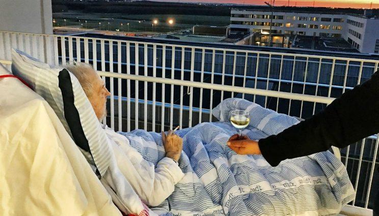 Hospital grants patient's dying wish of wine and a cigarette