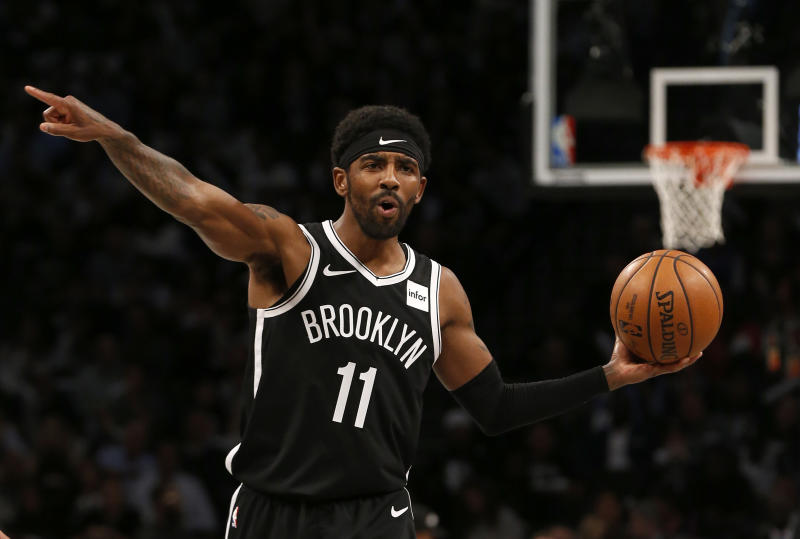 Kyrie Irving #11 of the Brooklyn Nets