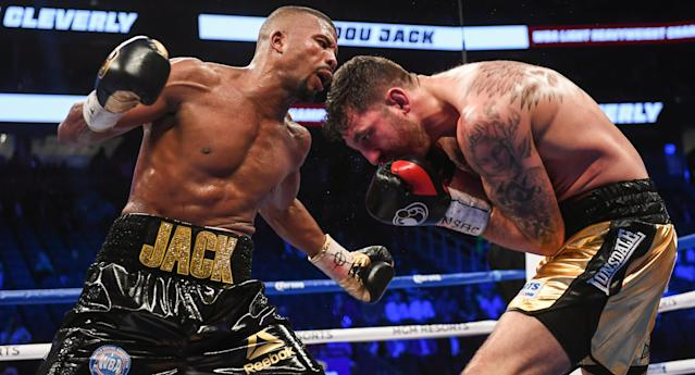 Badou Jack (L) defeated Nathan Cleverly by TKO on Aug. 26, 2017 at T-Mobile Arena in Las Vegas. (Getty Images)