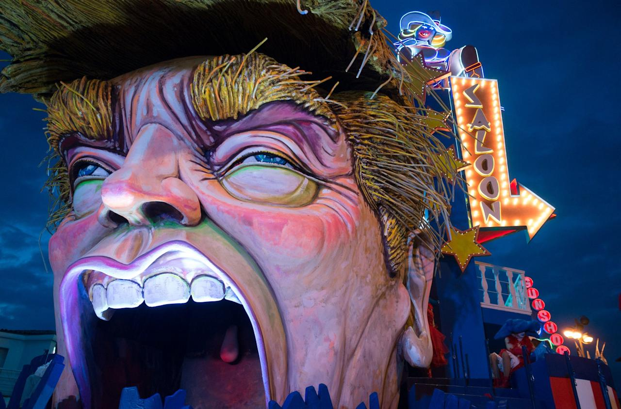 <p>A Donald Trump float takes part in a parade during the Viareggio Carnival Parade in Italy. (Rex) </p>