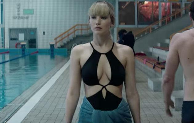 Jennifer strips off for her role as a Russian spy in Red Sparrow. Source: Fox