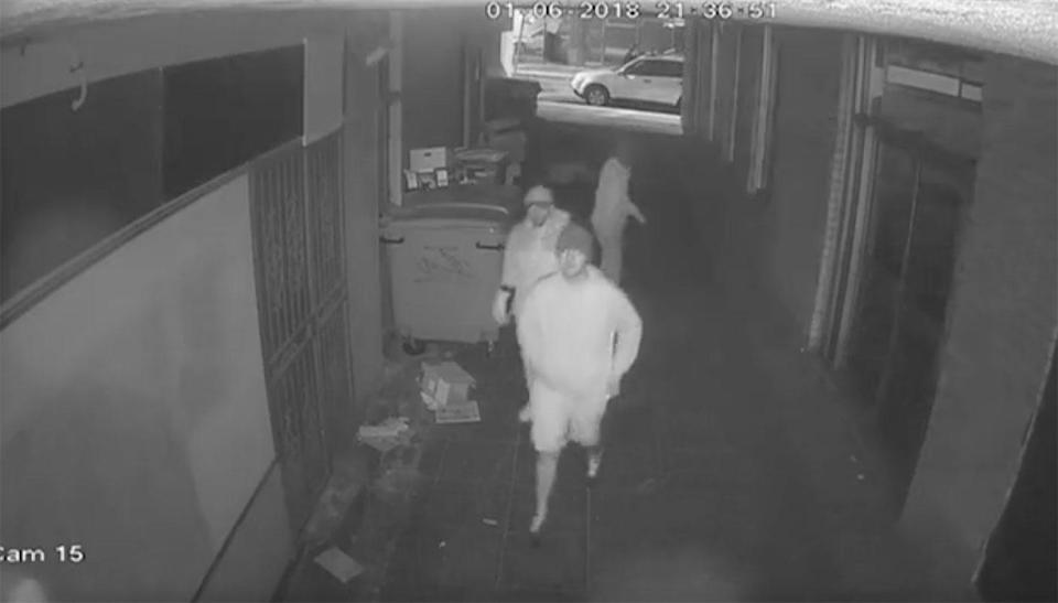 Police wish to speak with these men. Source: 7 News