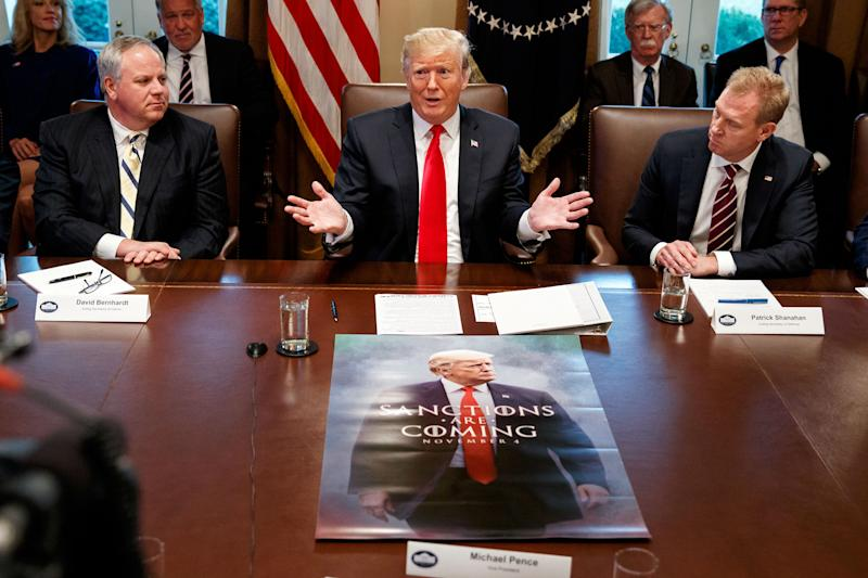 Trump Proudly Displays Giant Game Of Thrones Meme At Cabinet Meeting