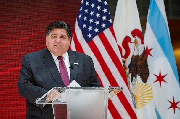 PHOTO: In this file photo, Governor of Illinois Jay Robert Pritzker speaks at the University of Chicago on July 23, 2020, in Chicago. (Kamil Krzaczynski/Reuters, FILE)