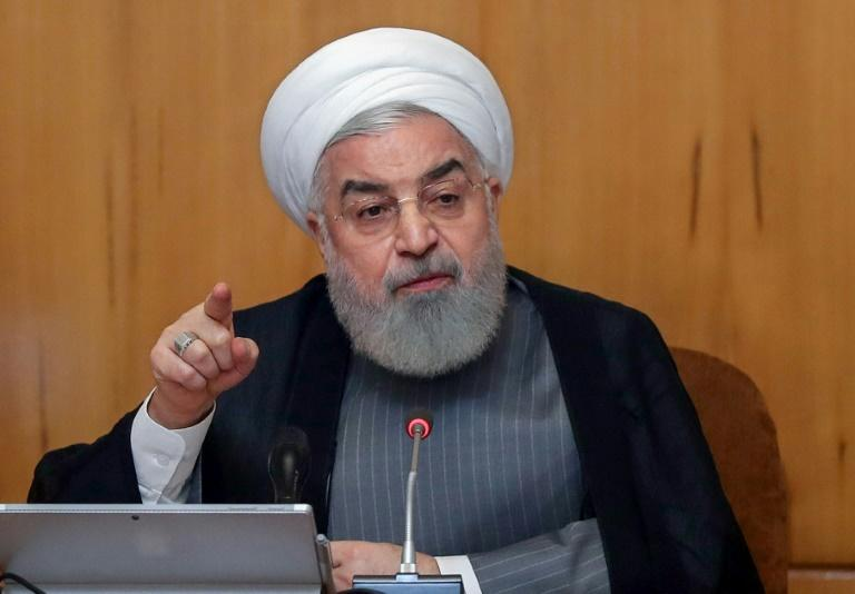 Iranian President Hassan Rouhani announced Tehran will exceed the limits a 2015 nuclear deal set on its uranium enrichment within days in response to the other parties' inaction over promised sanctions relief (AFP Photo/HO)
