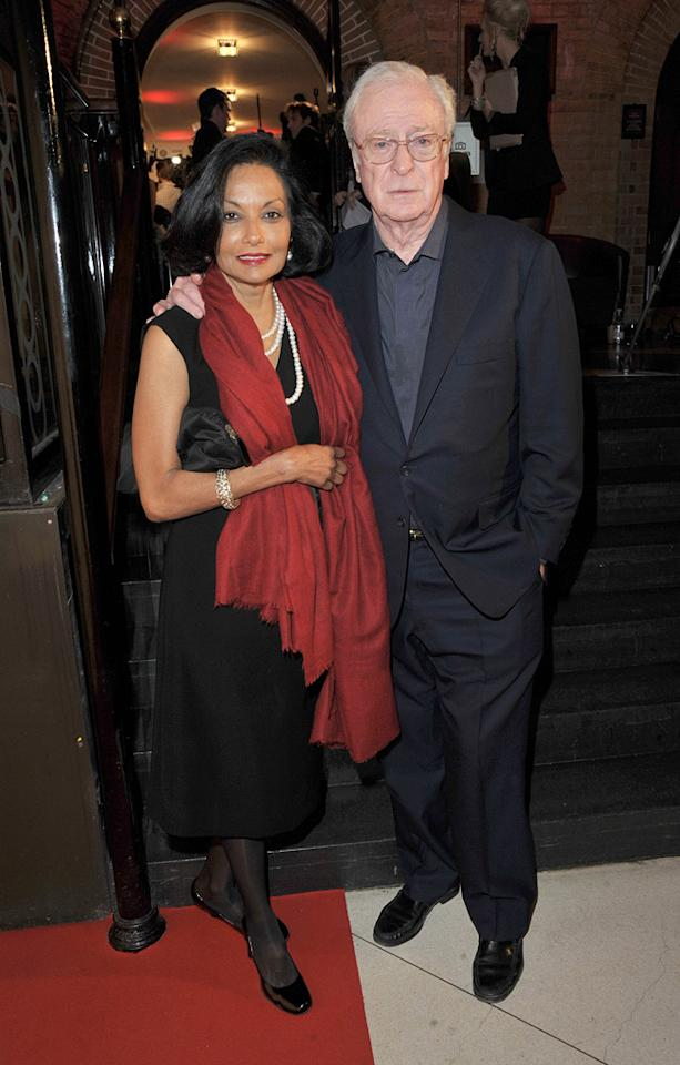 """<a href=""""http://movies.yahoo.com/movie/contributor/1800014833"""">Michael Caine</a> and wife at the 2009 British Independent Film Awards in London - 12/06/2009"""