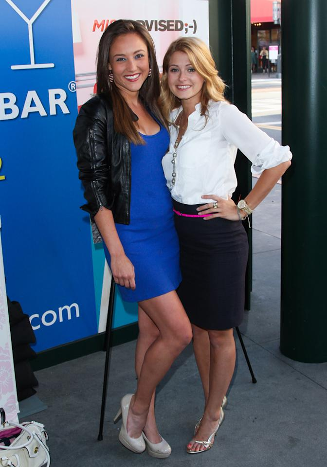 """Lauren Mayhew and Cameron Goodman attend the viewing party for Bravo's new series """"Miss Advised"""" at the Planet Dailies & Mixology 101 on June 18, 2012 in Los Angeles, California."""