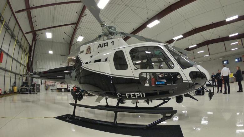 'Better, stronger and faster': Edmonton police unveil state-of-the-art helicopter