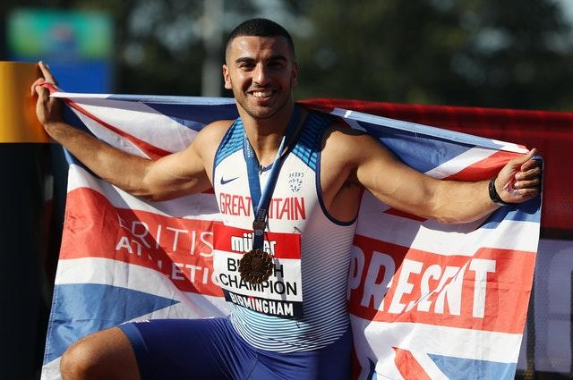 Adam Gemili competes for Great Britain in 100m, 200m and in the 4x100m relay