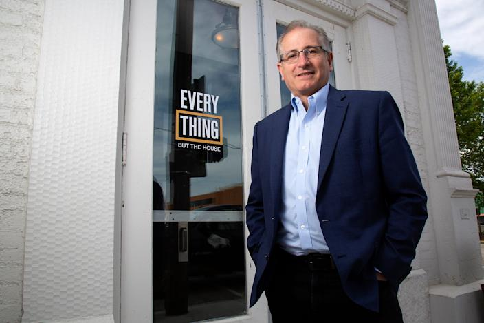 Scott Griffith, CEO of Everything But The House, poses at the company's headquarters in the Over-the-Rhine neighborhood of Cincinnati on Tuesday, May 21, 2019.