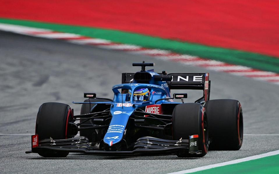 Alpine's Spanish driver Fernando Alonso drives during the first practice session at the Red Bull Ring race track in Spielberg, Austria, on June 25, 2021, ahead of the Formula One Styrian Grand Prix - ANDREJ ISAKOVIC/AFP via Getty Images