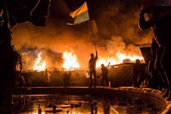 Independence Square in Kiev during the Maidan Revolution (Getty)