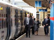 <p>Queen Elizabeth travels to her Sandringham Estate ahead of Christmas on a pre-scheduled public train to King's Lynn, but the royal rents out an entire carriage on the train for herself, Prince Philip and their immediate staff. The Queen travels out to Sandringham about a week before Christmas to get ready to host the family's annual celebration.</p>