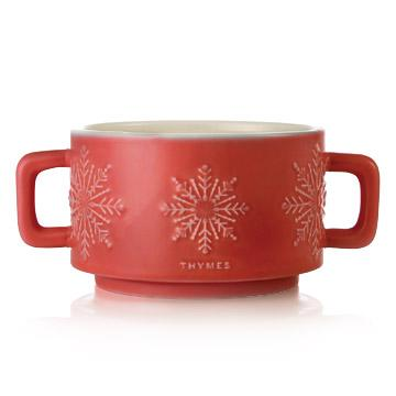 Thymes Hot Chocolate 3-Wick Mug Candle.
