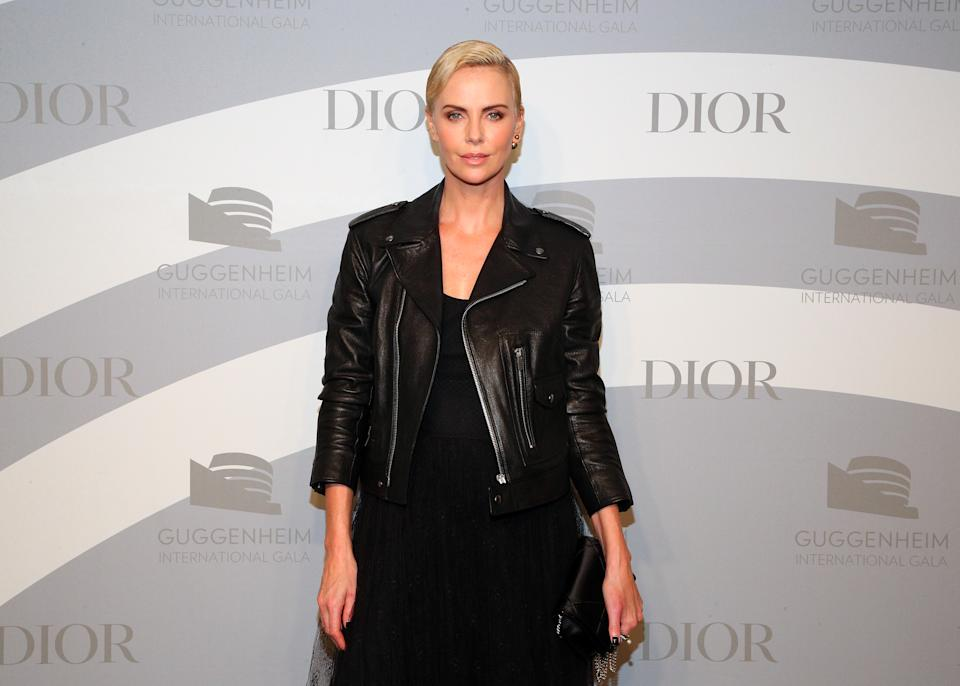 Charlize Theron attends the 2019 Guggenheim International Gala on November 14, 2019 in New York City. (Photo by Astrid Stawiarz/Getty Images for Dior)