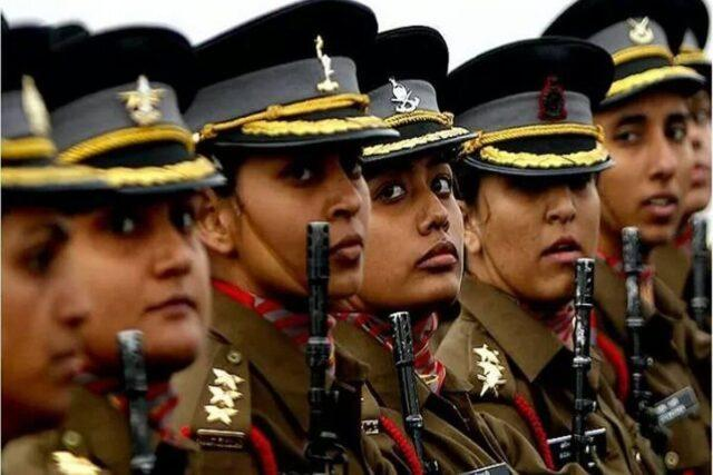 A batch of women cadre in the Indian Army